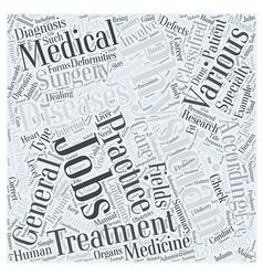 Physician jobs word cloud concept vector