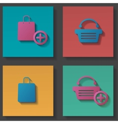 purchase icons set vector image vector image