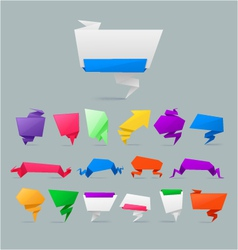 set of colorfu paper rigami banners vector image vector image