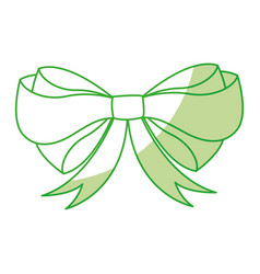 Shadow christmas bow cartoon vector