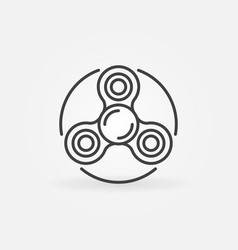 spinner thin line icon vector image