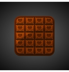 Square chocolate icons on valentine s day vector