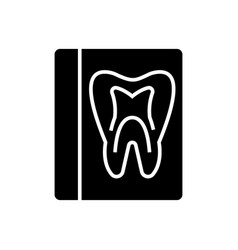 tooth record - medical dentist report icon vector image vector image