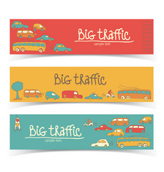 Transport truffic banner set vector