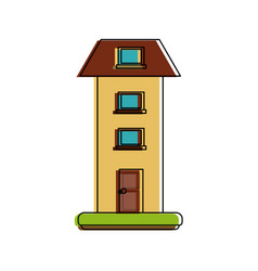Two floors house vector