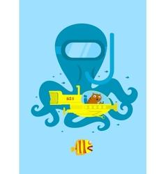 Underwater adventure vector