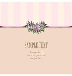 vintage flowers valentine vector image vector image