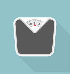 weight scale with long shadow vector image vector image