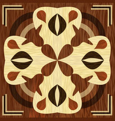 wooden inlay light and dark wood patterns veneer vector image
