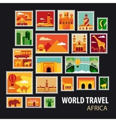 World Travel Icons set vector image vector image