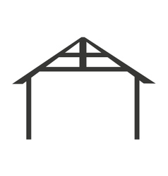 Manger stable home isolated vector