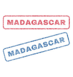 Madagascar textile stamps vector