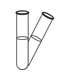figure clinical tubes icon vector image