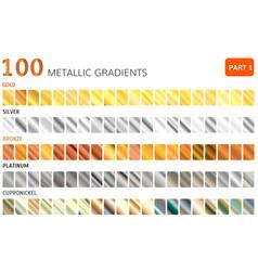 Hundred metal gradients vector