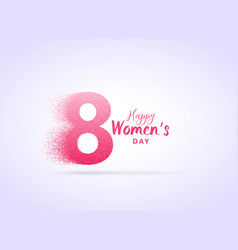 Creative womans day design with letter 8 made vector