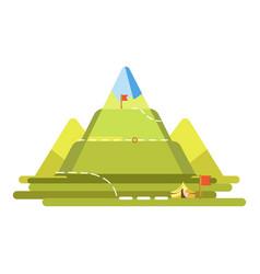 Mountain climbing route vector