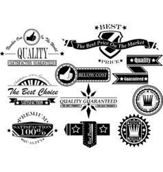 Set of vintage label collection 5 vector