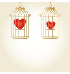 Heart in cage - vector image