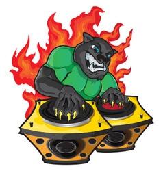 Disk jockey vector image