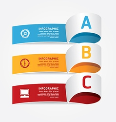 Infographic template modern design vector