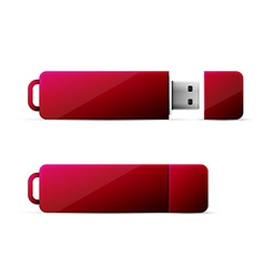 Red usb flash drive vector