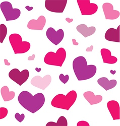 seamless pattern with colored hearts vector image