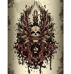Skull crest vector