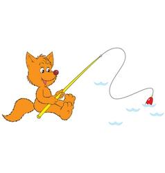 fox fisher vector image