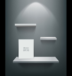 Empty white shelf and frame vector