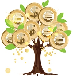 Money tree with coins vector