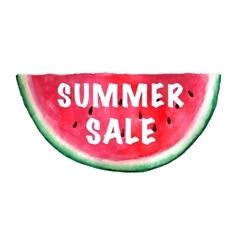 Summer sale banner watercolor vector
