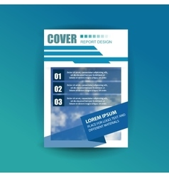 A4 cover annual flyer report business vector image vector image