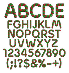 alphabet numbers signs from christmas sweets vector image