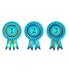 award medals set on white background vector image vector image