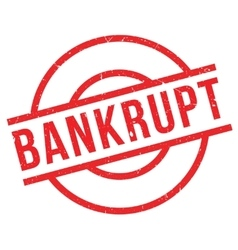 Bankrupt rubber stamp vector image