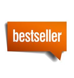 Bestseller orange speech bubble isolated on white vector
