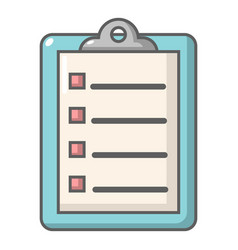 check list icon cartoon style vector image