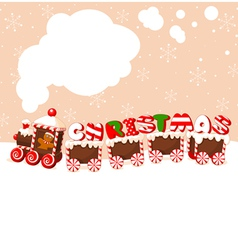 Christmas gingerbread train vector