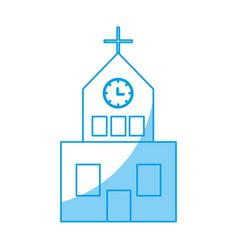 church building icon vector image vector image