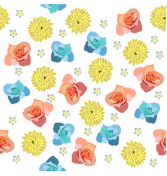 cute pattern in small different flower vector image