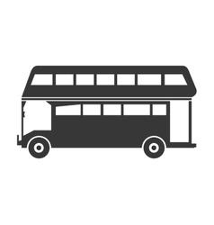 Double decker bus icon vector