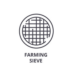 Farming sieve line icon outline sign linear vector