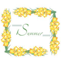 frame summer gladioli vector image vector image