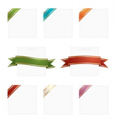 frames with ribbons vector image vector image