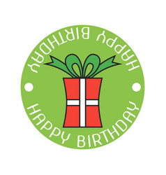 gift color sticker and badge for birthday vector image vector image