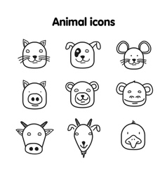 Hand drawn animal - icons vector image