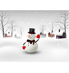 happy snowman christmas background vector image vector image