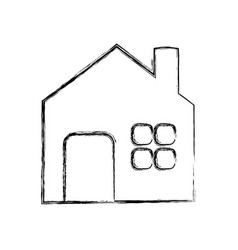 house building symbol vector image vector image