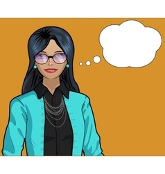 Indonesian woman pop art comic vector image vector image