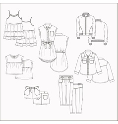Kids clothes vector